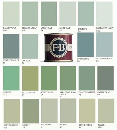 Farrow and Ball colours